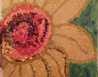 Recycled Mosaic Sunflower