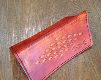 Custom Hand-Tooled Check Book