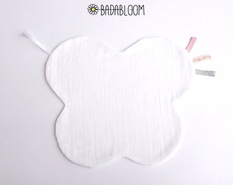 Mix doudou baby organic cotton with pacifier lollipop Butterfly