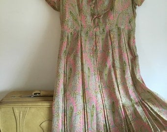 Take Me With You Vintage Paisley Dress