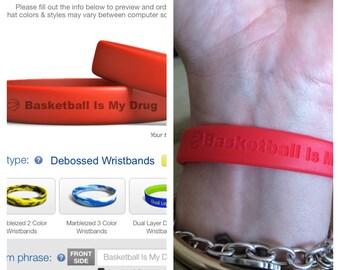 Basketball is my Drug Wristbands