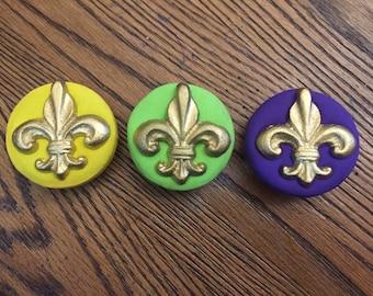 Fleur de Lis magnets/set of 3