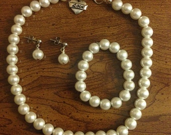 Girl Pearl Jewelry Set