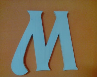 Custom wall mounted wooden LETTERS handmade height 31 cm