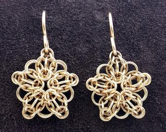 Celtic Star Earrings - 14kt Gold Fill