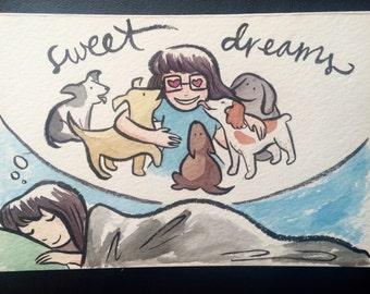 Watercolor postcard commission
