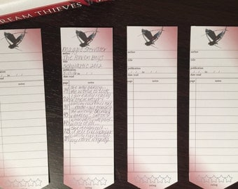 Library Card Paper Bookmarks - Raven Boys