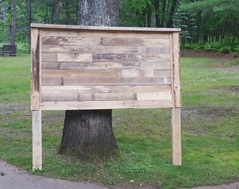 Pallet Headboard that hangs off wall with heavy duty brackets  Custom Made!!