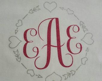 Circle Monogram Initial Shirt