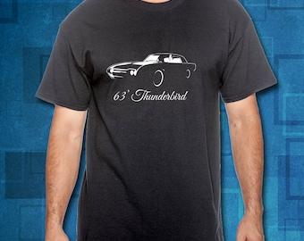 1963 Ford Thunderbird T-Shirt // Ford T-Shirt // Classic Car Shirts