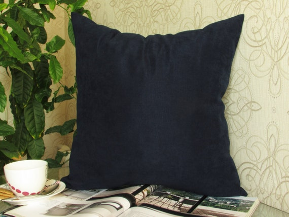Navy Blue Throw Pillows Target : Navy Velvet Pillow Cover Blue Velvet Pillow by ModernHouseBoutique