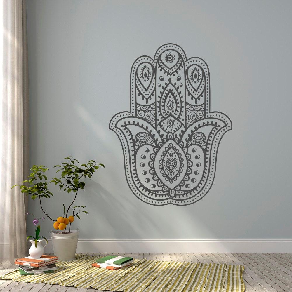 Hamsa Hand Wall Decal Yoga Wall Decal Namaste Decal Stickers