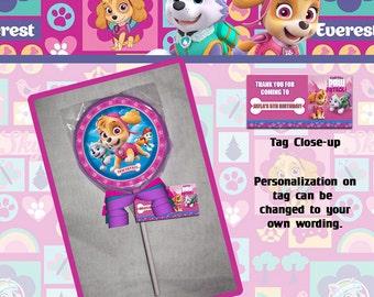 Pink Paw Patrol Lollipop or Cookie