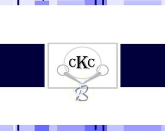 Monogrammed Bit Card