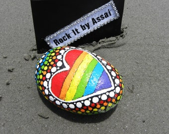 Mandala Hand Painted Rock Meditation Stone Decoration Gift Double Side Painted Beach Stone Dot Art Organic