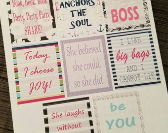 31 Inspired Full Box Quotes - Planner Stickers