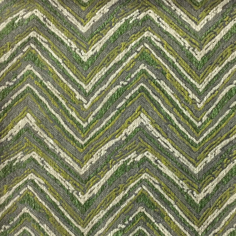 Upholstery Fabric Norwich Grass Chevron Pattern