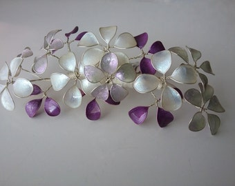 Hair comb of plug comb flower lilac