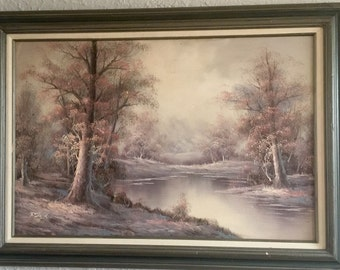 Vintage Signed F. Stephens Oil Painting