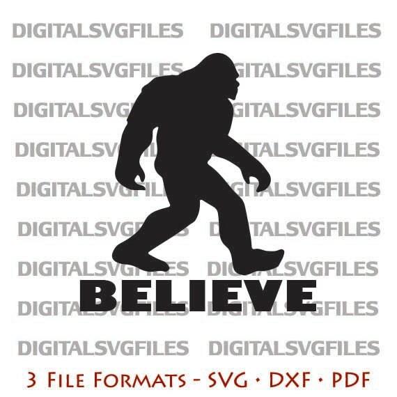 Digital File Big Foot Yeti Big Foot Bigfoot Svg By