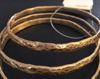 Hammered bangle gold bracelet!!