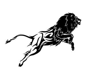 Silhouette Flame Lion - Vinyl Decal