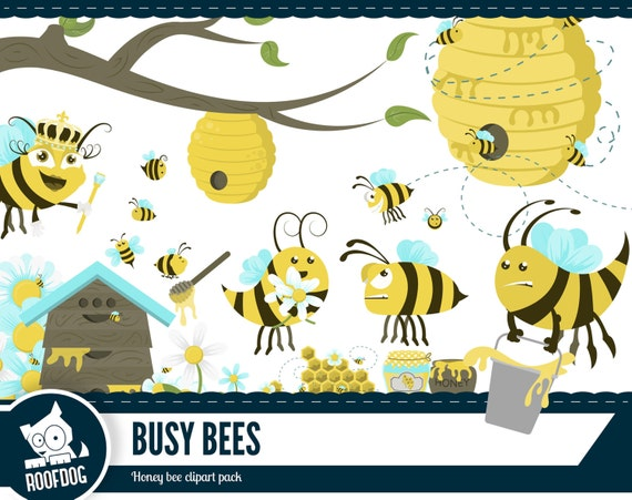 Honey bee clipart Busy bee honey clip art Bumble bee hive