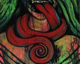 GUILT TRIP. Original Painting by Justinne Moore.