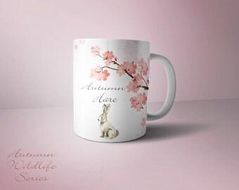 Autumn Hare mug