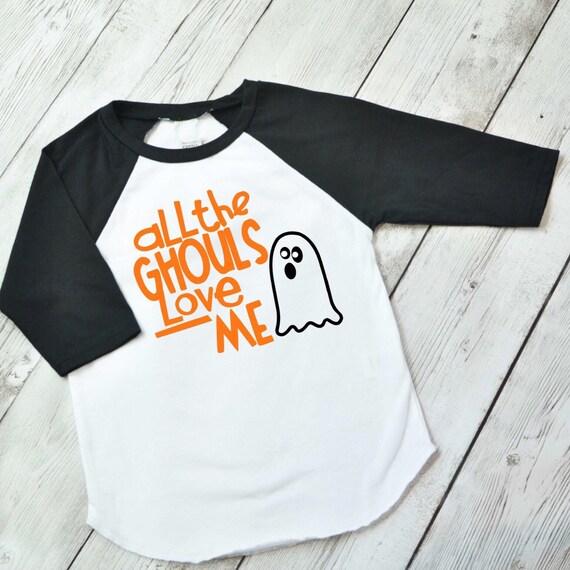 Download Boys Halloween Shirt All the Ghouls love me shirt Boys