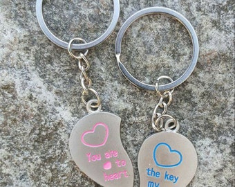 His and hers keyrings