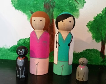 Veterinarian Peg Doll Set
