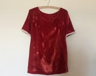 vintage. 1980s crushed velvet mini dress