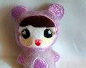 Analese Doll 4x4 Hoop Embroidery Design
