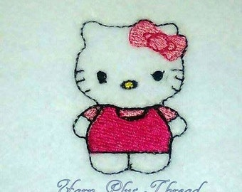 Happy Kitty Feltie Embroidery Design
