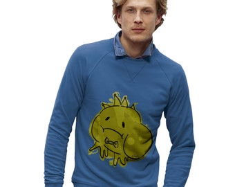 Men's Ink Splat Frog Prince Sweatshirt