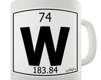Wolf art print science periodic table tungsten wolfram wall - Tungsten symbol periodic table ...