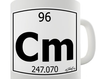 Periodic Table Of Elements Cm Curium Ceramic Mug