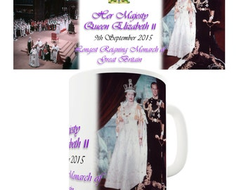 Queen Elizabeth II Commemorative Ceramic Mug