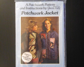 Vintage Sewing Pattern Patchwork Jacket Size Small/Medium Medium/Large Complete And New