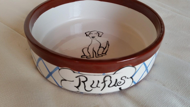 Hand Painted Ceramic Dog Bowl: Personalized Dog Bowls - photo#18