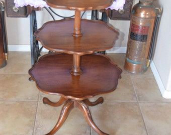 Imperial Furniture Mahogany 3-tiered table