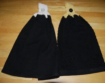 Black Hanging Towels