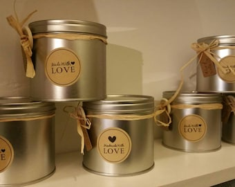 Hand poured 100% soy scented wax candle