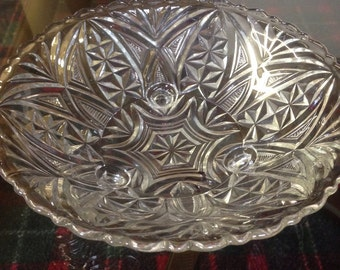 Vintage decorative glass bowl candy dish