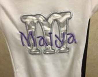 Custom name on gown, onesie or shirt!