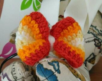 Secret Sunrise crocheted bow headband