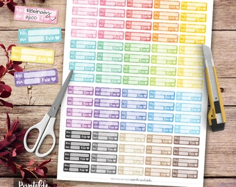 Bill Due Printable Planner Stickers, Watercolor Bill Due Stickers, Erin Condren Planner Stickers