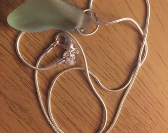 Hebridean Sea glass pendant