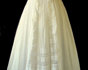 Antique English Christening Gown, c. 1890.  Ready to Wear.
